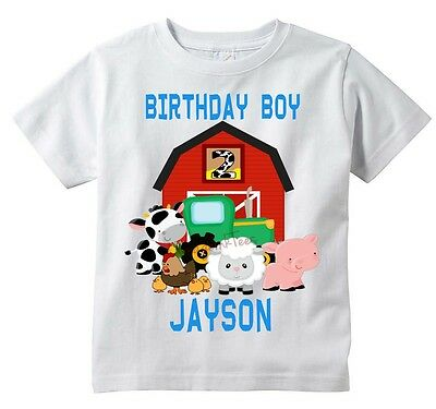 Farm Animal Birthday T-shirt, PERSONALIZE Name Age, custom, party, OwnageINK