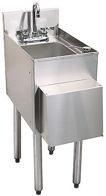 Glastender Stainless Steel C-HSA-12-D 1 Compartment Hand Sink w/Towel Dispenser