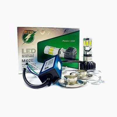 Kit Led Fari Lampada H4/h6 Bi-Xenon Led 35W 6000K Per Moto Scooter Kit Led H4/h6