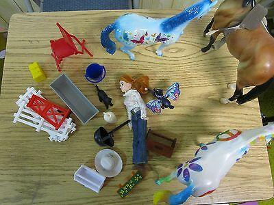 Breyer Horse and Accessory lot, 17 pieces GUC