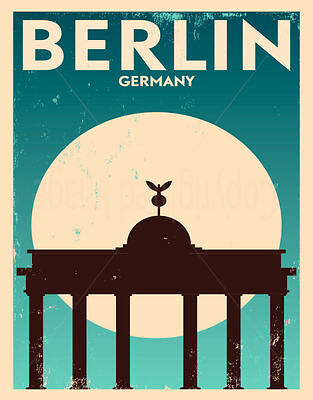 Berlin Germany Large Metal Tin Sign Poster Wall Plaque