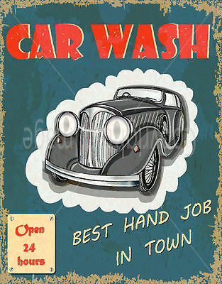 Car Wash  Large Metal Tin Sign Poster Wall Plaque