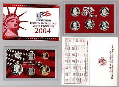 2004 S United States Silver Proof Set in the Original Gov't Packaging with COA
