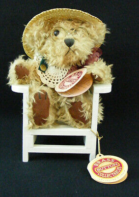 1997 Pickford Brass Button Collectible ROSIE Bear and Adirondack Chair with Tags