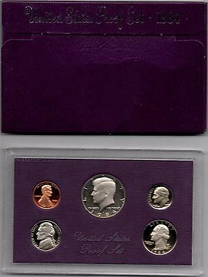 1984 S United States Mint Proof Set in Original US Government Packaging