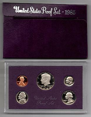 1985 S United States Mint Proof Set in Original US Government Packaging