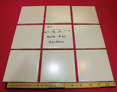 9 Ceramic Tiles…Off White…by American Olean...4-1/4...from the 1960's...NOS