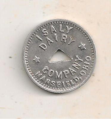 Mansfield, Oh Token, Isaly Dairy Company, Good For 1 Quart Regular