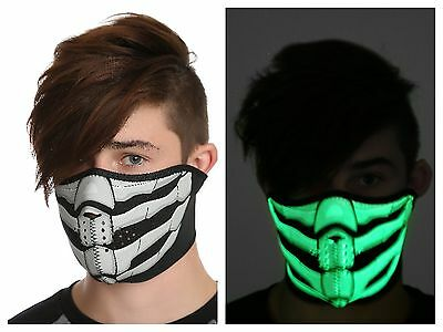 Bone Breath Glow-In-The-Dark Skeleton Neoprene Half Face Mask