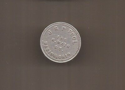 J & P Pool Marion Ohio Token Good For 25 Cents In Trade