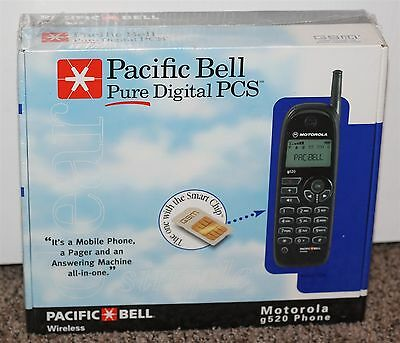 Motorola Vintage g520 Vintage Cell Phone NOS Brand New Sealed Pacific Bell PCS