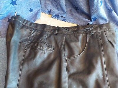 Lamb Leather Baggie style Lined shorts 38 40 3 pockets