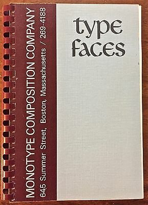 Type Faces incl. ornaments rules borders & prototype—Monotype Composition Boston