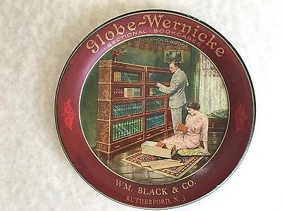 Globe-Wernicke Tin Advertising Tip Tray Sectional Barrister Bookcase