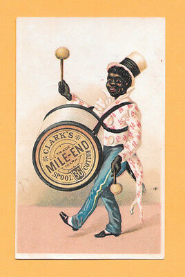 Victorian Trade Card, Sewing Machine, Clark's Mile End Spool Cotton