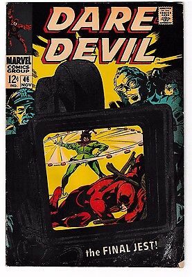 DAREDEVIL #46 (GD+) JESTER Cover Story Appearance! Netflix! Silver-Age 1968