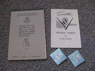 Vintage Cadillac Collectables Notebook, Hydra-Matic Brochure, Unused Matchbooks
