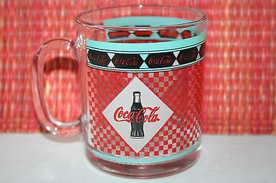 Coca-Cola Glass Mug Cup 1999