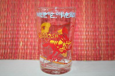 Vintage 1974 WELCH'S Jelly Drinking Glass ROAD RUNNER Warner Bros. WILE E COYOTE