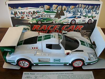 2009 HESS TRUCK WITH RACE CAR And RACER