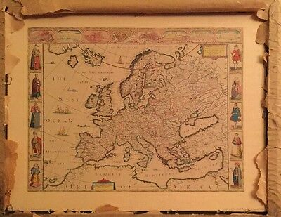 Antique John Speed Map Of Europe (1552-1629)
