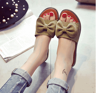 New Women tassels Summer Bow Sandals slippers Fashion Women's Casual Flats Shoes