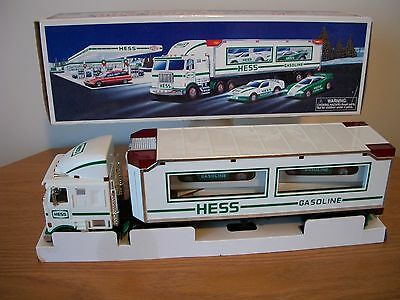 1997 hess truck and race cars