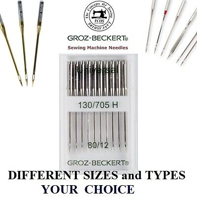 Groz Beckert sewing machine needles household domestic 130/705H Universal, etc.