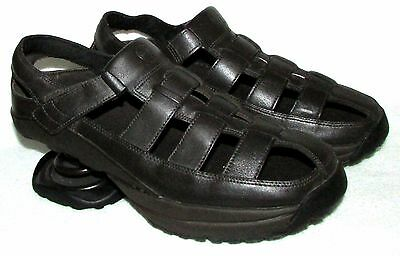 New Z-Coil Dark Brown Leather Fisherman Sandals Mens Us 11 M