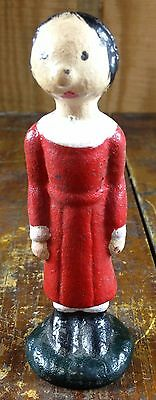 Olive Oyl Popeye Sailor Man's Wife Cartoon Character Cast Iron Toy Paperweight