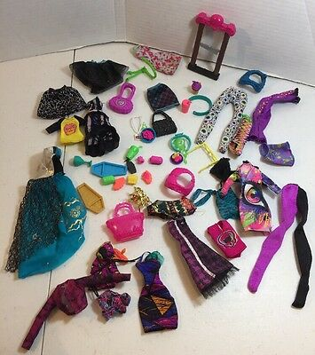 large lot of monster high doll clothes and accessories