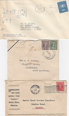 Australia Lot of 3 Mixed Cond Pre Decimal Commercial Covers as shown 99c Start!!