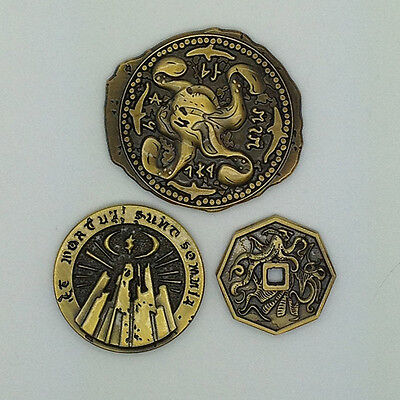 CALL OF CTHULHU: INNSMOUTH GOLD COINS 3-PACK Campaign Coins Chaosium CoC RPG