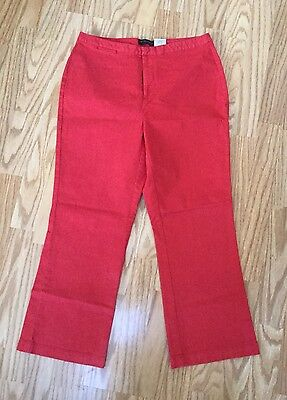 Dockers stretch red capri/cropped pants size womens 10