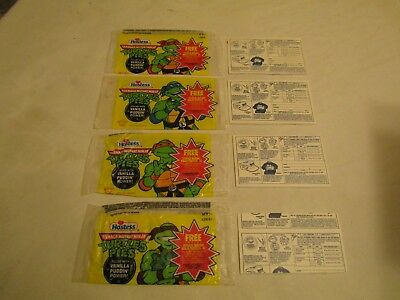 Hostess TMNT Ninja Pudding Pie Wrappers with Ninja Pie Backing
