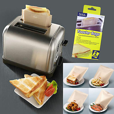 Reusable Toast Toaster Sandwich Bags Baking Pouch Toasty Toastie Pockets 2/4/6/8