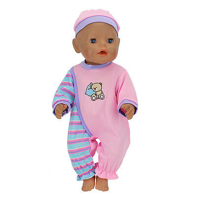 Bear Jumpsuit clothes Wearfor 43cm Baby Born zapf (only sell clothes )