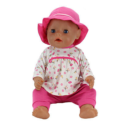 New 1set Meired clothes+hat Wearfor 43cm Baby Born zapf(only sell clothes)