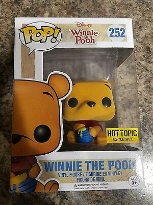 Funko Pop! Disney #252 Flocked Winnie the Pooh Hot Topic Exclusive Brand New