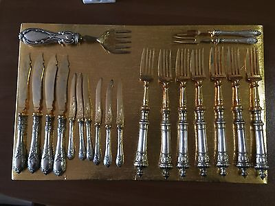 Old Italian 800 Silver Flatware Dinner Set For Service 20 Pieces Italy