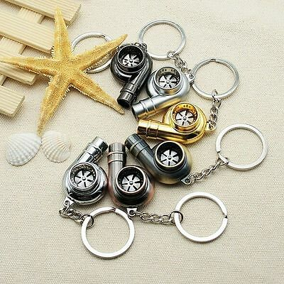 Car Auto Spinning Turbo Turbine Keychain Key Chain Key Ring Keyring Keyfob Gift