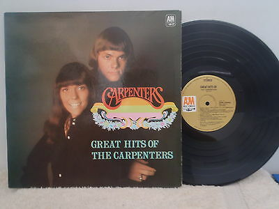 THE CARPENTERS - LP -  GREAT HITS OF THE CARPENTERS  - 1970's?