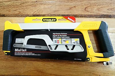 Stanley High Tension 12in 300mm Hacksaw & Mini Hack Saw Twin Pack