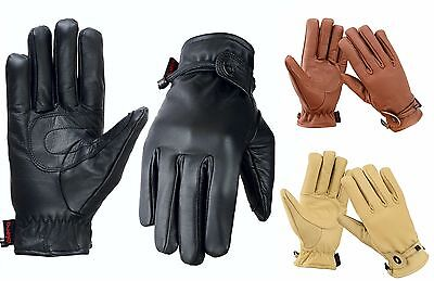 EVO Pure Leather All Weather Gloves Riding Fashion Wear Motorbike Cycle Unisex