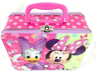 Disney Minnie Mouse and Daphne Duck Metal Pink Lunchbox