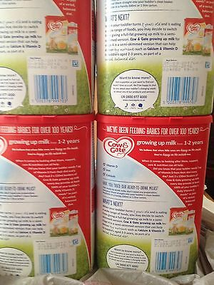 Cow and Gate Milk 3 (From 1-2 Years, Growing Up Milk) New and Sealed X 4