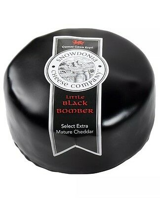 Snowdonia Big Black Bomber 1/2 Wheel 1.5kg  Extra Mature Cheddar Cheese