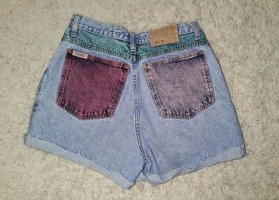 Vintage SZ 9 Zena Jeans Denim Jean Shorts High Waist Light Colored Wash 80s 90s