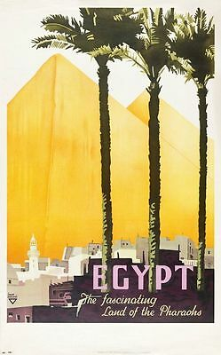 Egypt Large Metal  Travel Metal Tin Sign Poster Wall Plaque