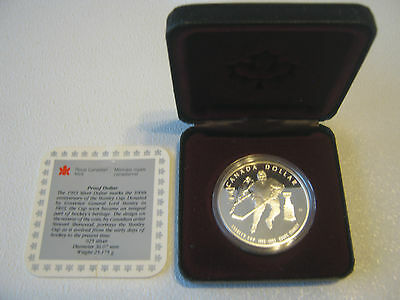 Canada Royal Mint $1 Commemorative NHL Silver Dollar Coin 1993 Stanley Cup